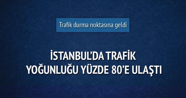 İstanbul'da tarfik yoğunluğu yüzde 80'e ulaştı