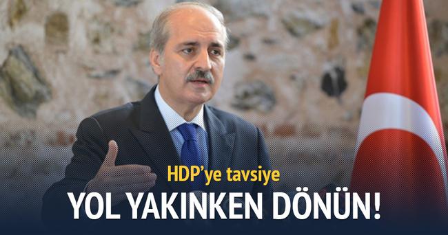Kurtulmuş'tan HDP'ye tavsiye