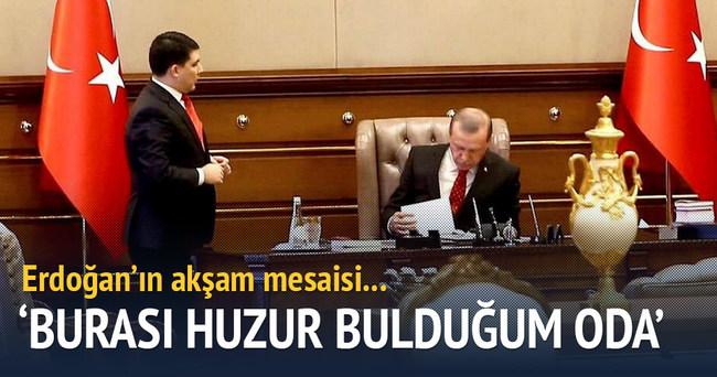 Erdoğan'dan akşam mesaisi