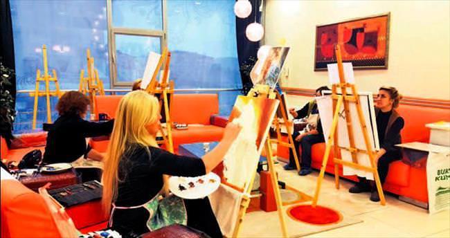Pursaklar'da yağlı boya kursuna yoğun ilgi var