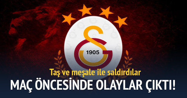 Galatasaray-Karşıyaka maçı öncesi olay çıktı