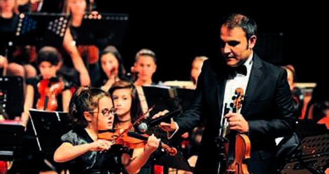 Kepez'in çocukları konser için hazır
