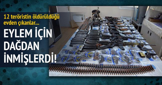 Van'da 12 teröristin öldürüldüğü evden bunlar çıktı!
