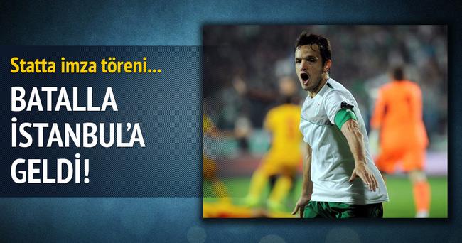 Bursaspor'un yeni transferi Batalla İstanbul'a geldi