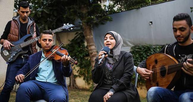 Gazze'de protest müzik