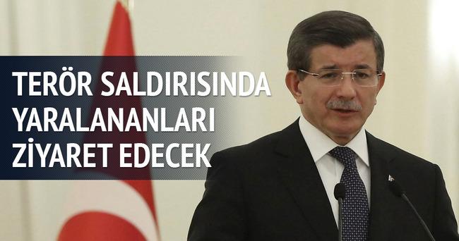Başbakan Davutoğlu terör saldırısında yaralananları ziyaret edecek