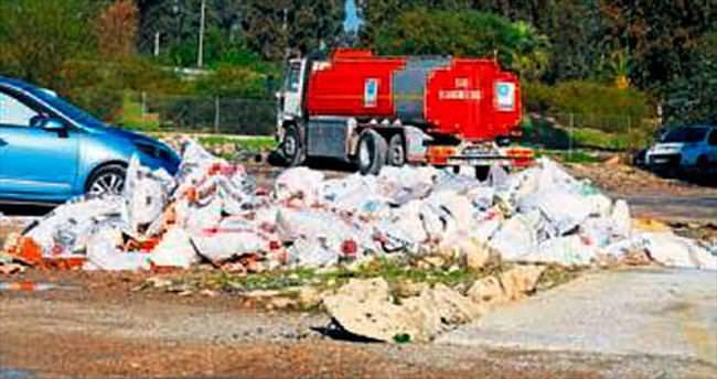Moloz atıkları çöplüğe dönüştü