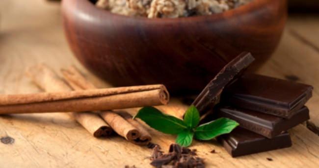 Şeker yerine tahıl, tarçın ve bitter çikolata