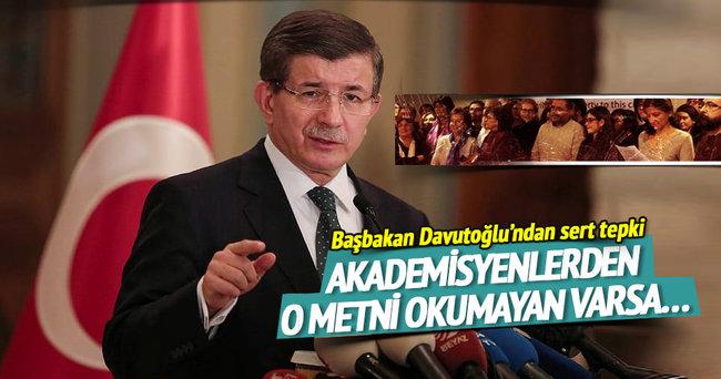Skandal bildiriye imza atan akademisyenlere Davutoğlu'ndan çağrı