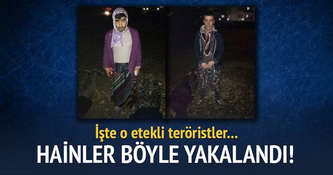 Etekli teröristler kıskıvrak yakalandı