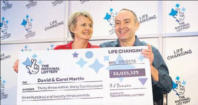 Şanslı çift 33 milyon sterlini selzedelerle paylaşacak