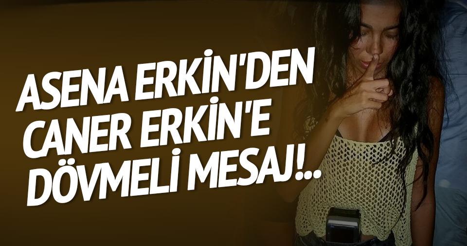 Asena Erkin'den Caner Erkin'e dövmeli mesaj!..