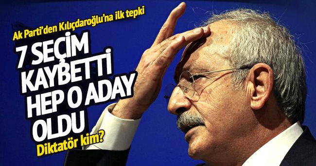 AK Parti'den Kılıçdaroğlu'na 'diktatör' cevabı!