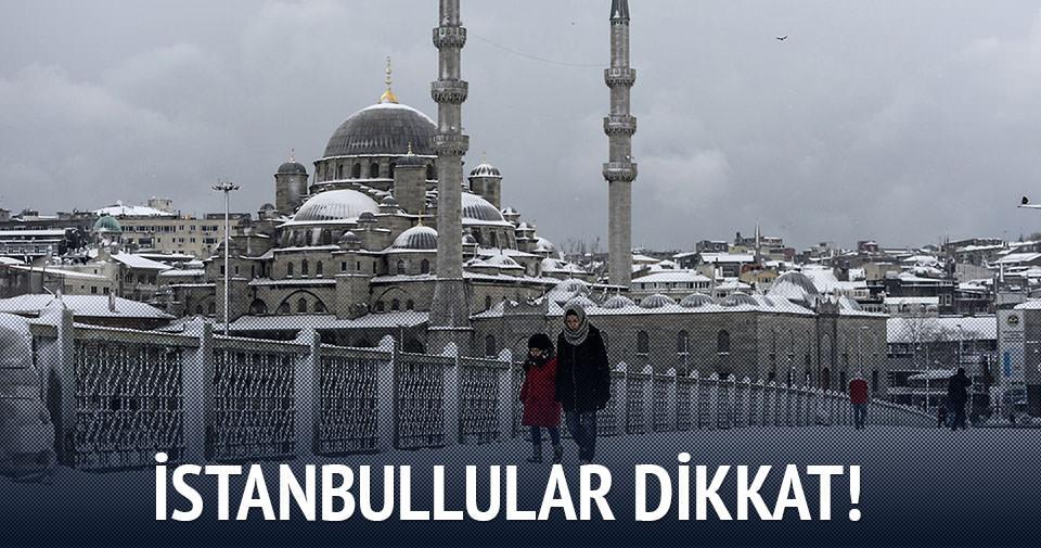 İstanbul'a kar erken geliyor