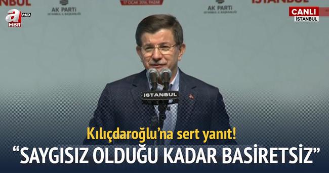 Davutoğlu'ndan Kılıçdaroğlu'na sert cevap