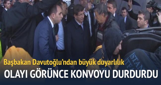 Başbakan Davutoğlu'ndan büyük duyarlılık