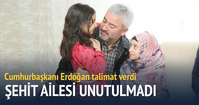 Cumhurbaşkanı  Erdoğan talimat verdi şehit ailesine ev alındı