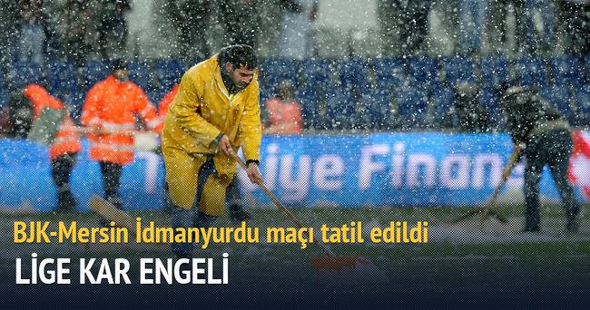 Beşiktaş Mersin İdmanyurdu'nu maçı tatil edildi
