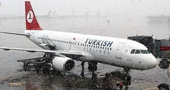 Kar nedeniyle THY'de 137 sefer iptal