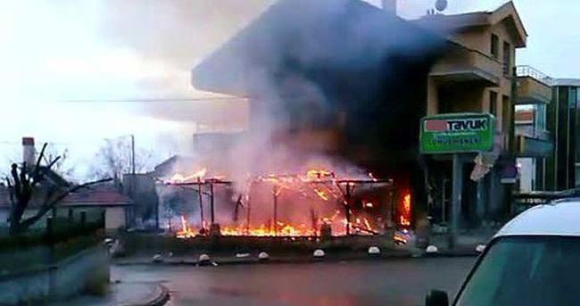 Konya'da doğal gaz borusu patladı