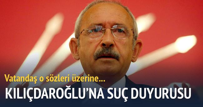 Vatandaştan Kılıçdaroğlu hakkında suç duyurusu