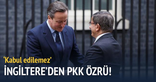 İngiltere'den Türkiye'ye PKK özrü