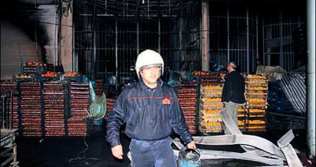 Mersin Hali'nde yangın çıktı