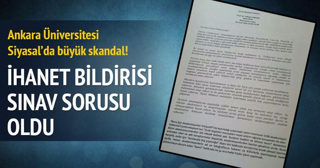 Ankara Üniversitesi Siyasal'da büyük skandal