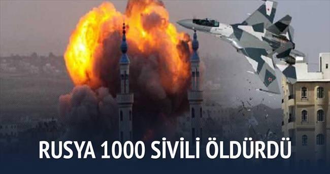 Rusya'nın saldırılarında 1000 sivil öldü
