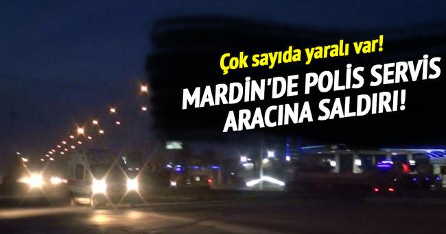 Nusaybin'de polis servis aracına PKK'dan saldırı!