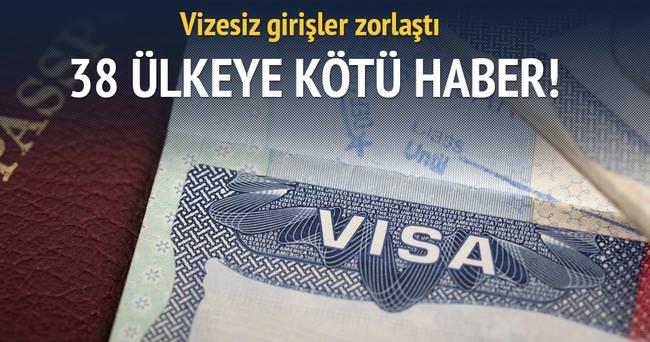 ABD'ye vizesiz girişler zorlaştı