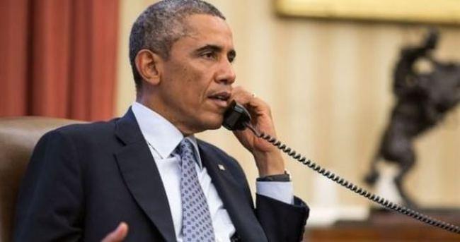 Obama, Merkel ile telefonda görüştü