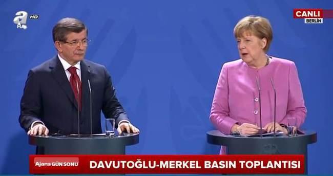 Davutoğlu ve Merkel ortak basın toplantısı düzenliyor - CANLI
