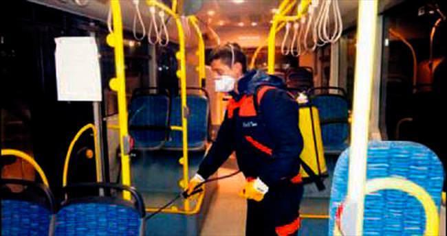 EGO otobüslerinde grip önlemi arttı