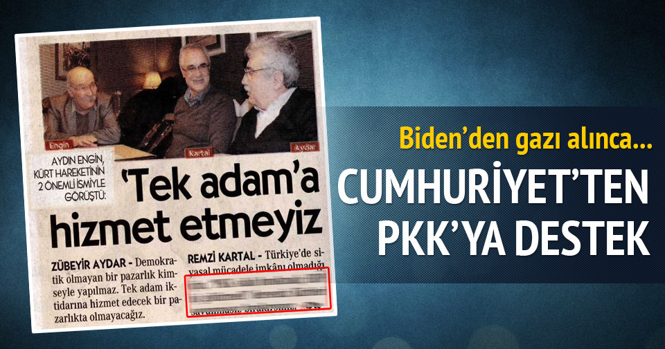 Cumhuriyet'ten PKK'ya destek