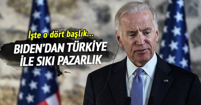 Biden, Türkiye ile dört başlıkta pazarlık yaptı