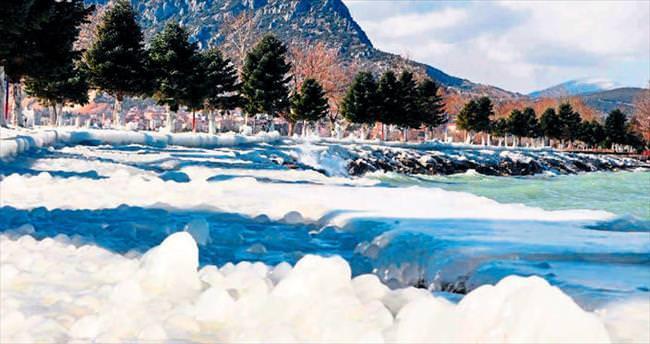 Eğirdir'de kış manzaraları