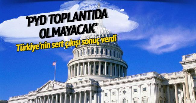 ABD: PYD toplantıda olmayacak