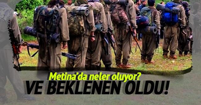 Metina kampından kaçan teröristler teslim oldu