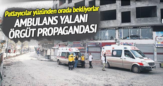 Ambulans yalanı, örgüt propagandası