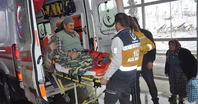 Eşek üzerine düştü, bacakları ve kolu kırıldı
