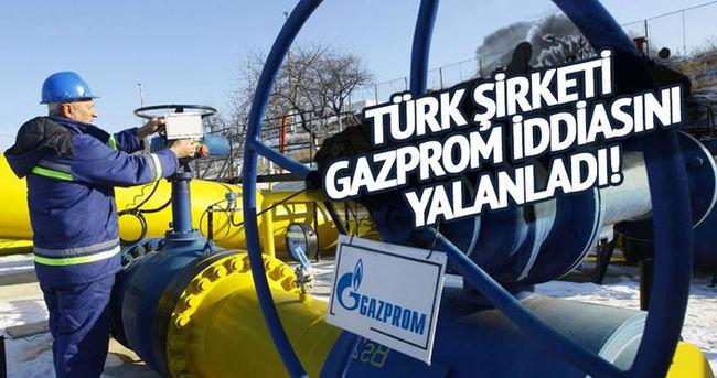 Türk şirketi Gazprom'un indirimi kaldırdığı iddialarını yalanladı