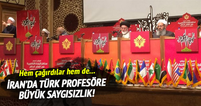 İran'da Türk profesöre büyük saygısızlık!