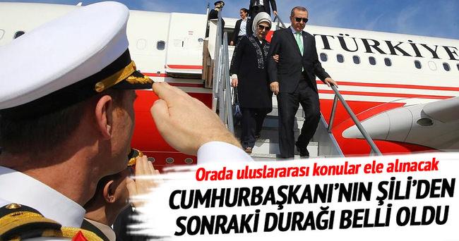 Cumhurbaşkanı Recep Tayyip Erdoğan Şili'de