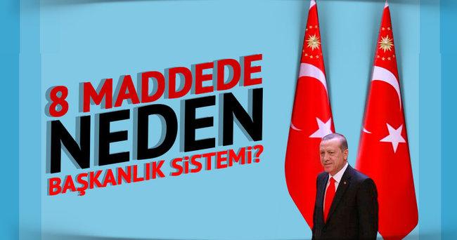 8 maddede neden başkanlık sistemi?