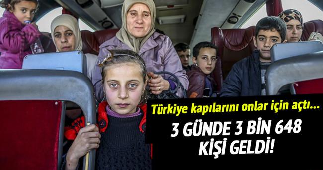 3 günde 3 bin 648 Türkmen geldi
