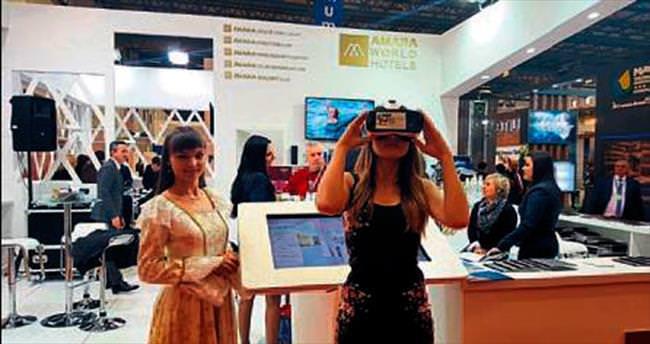 Turizm fuarında sanal gerçeklik