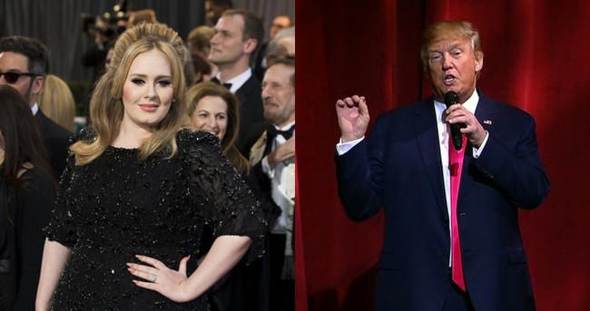 Adele'den, Trump'a veto
