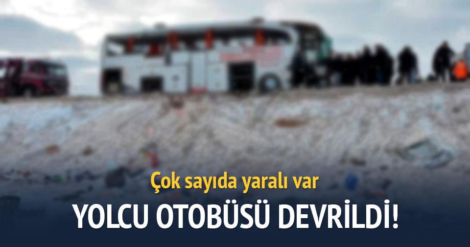Malatya'da yolcu otobüsü devrildi: 13 yaralı