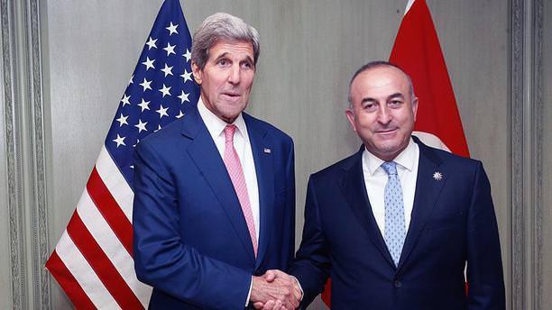 Çavuşoğlu ile Kerry Suriye'yi görüştü